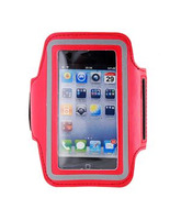 Sports Running Gym leather Armband Case for iPhone 4G/4S (Red)