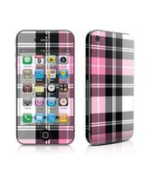 Skin Pink Plaid iPhone 4