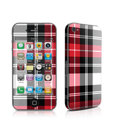 Skin Red Plaid iPhone 4