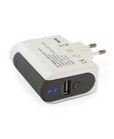 AC Adaptor USB 1A + External Battery 2000mAh Muvit White