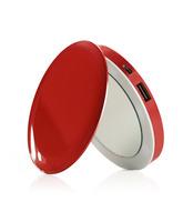 Pearl Mirror Power Bank 3000mAh Red