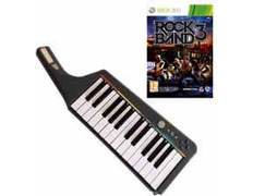 Rock Band 3 + Teclado Wireless Xbox 360