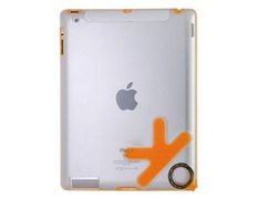Ultra Slim Case OK Design for iPad 2 Transparent Orange