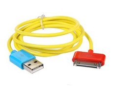 Cable de recarga USB Amarillo para iPad/iPhone/iTouch/iPod
