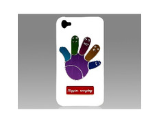 Funda Metálica Palm Pattern para iPhone 4/4S Blanca