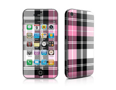 Skin Pink Plaid iPhone 4
