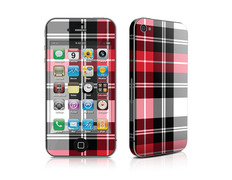 Skin Red Plaid iPhone 4