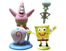 Pack 4 figures (Sponge Bob, Patrick Star, Squidward Tentacles &