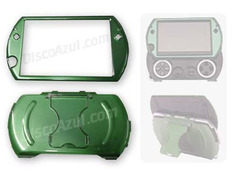 Semi-Metallica Armored Case for PSP Go Green