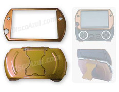 Semi-Metallica Armored Case for PSP Go Yellow