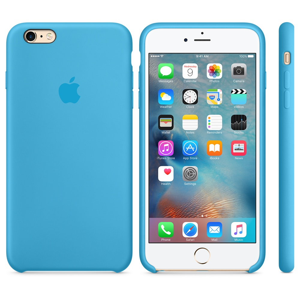 8a81eeb0160 FUNDA APPLE IPHONE 6S PLUS SILICONA AZUL - DiscoAzul.com