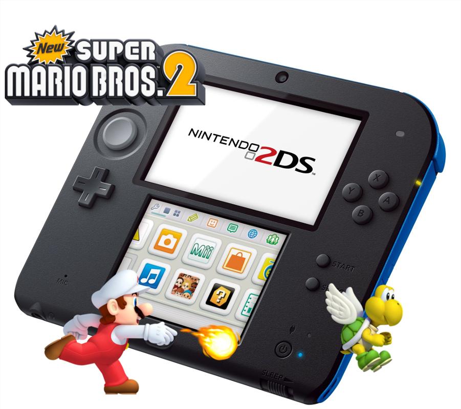 Nintendo 2ds Azul New Super Mario Bros 2 Discoazul Com