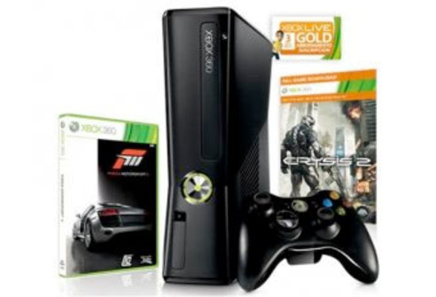 Xbox 360 Slim 250 GB + Crysis 2 + Forza Motorsport 3