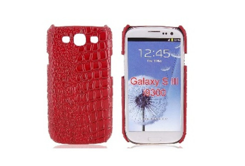 Case for Samsung S III i9300 (Crocodile Skin Red)