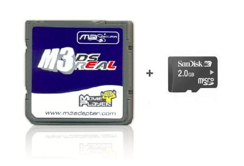 M3 DS Real - Rumble Pack Version + MicroSD 2 Gb