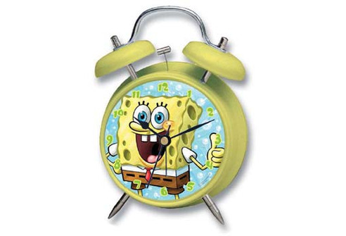 Alarm Clock SpongeBob 10cm (Yellow)