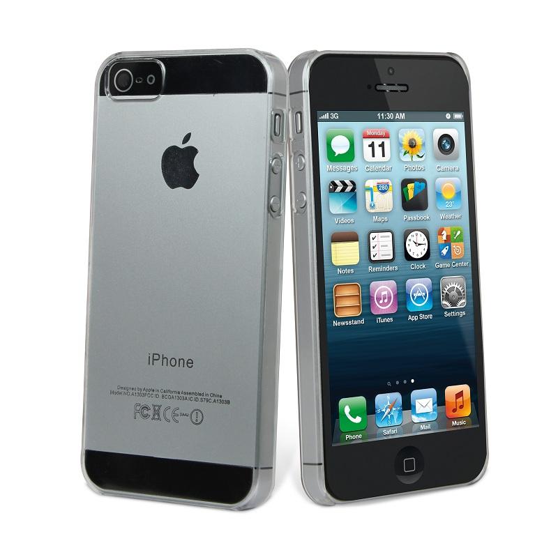 787f9f413b4 Carcasa Cristal Transparente iPhone 5/5S Muvit