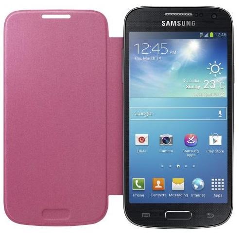 550c36318e1 Funda tipo libro para Samsung Galaxy S4 Mini Rosa