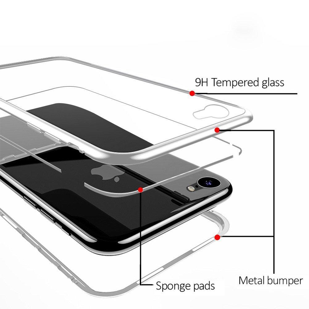 fe92242cb36 ... Carcasa Magnética con Cristal Templado iPhone 7 Plus/8 Plus Negro, ...