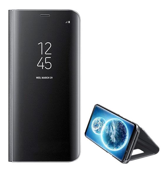 6cc4896f0f5 Funda Espejo Tipo Libro - Samsung Galaxy S9 Plus Negro