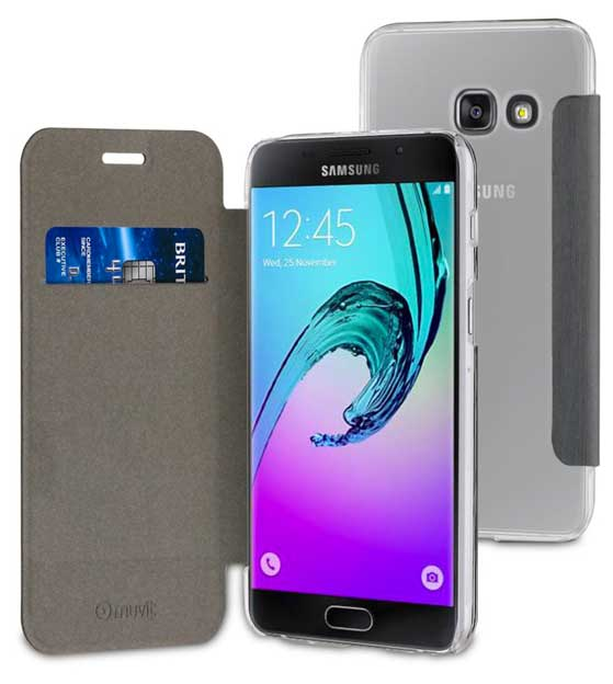 04173bc1703 ... Funda Folio Gris parte Trasera Transparente Samsung Galaxy A3 2017  Muvit, Img 2
