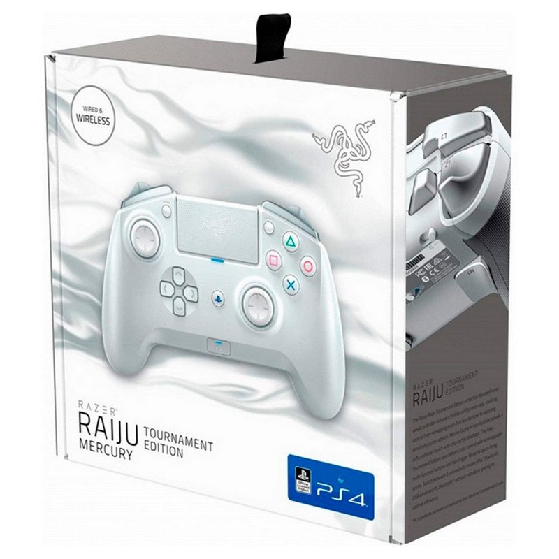Mando Razer Raiju Tournament Edition Mercury White Pc Ps4 Analizamos el nuevo mando razer raiju tournament edition para ps4, con botones personalizables y una disposición de los botones estilo xbox. mando razer raiju tournament edition