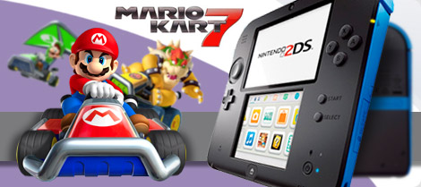 Nintendo 2DS Azul + Mario Kart 7