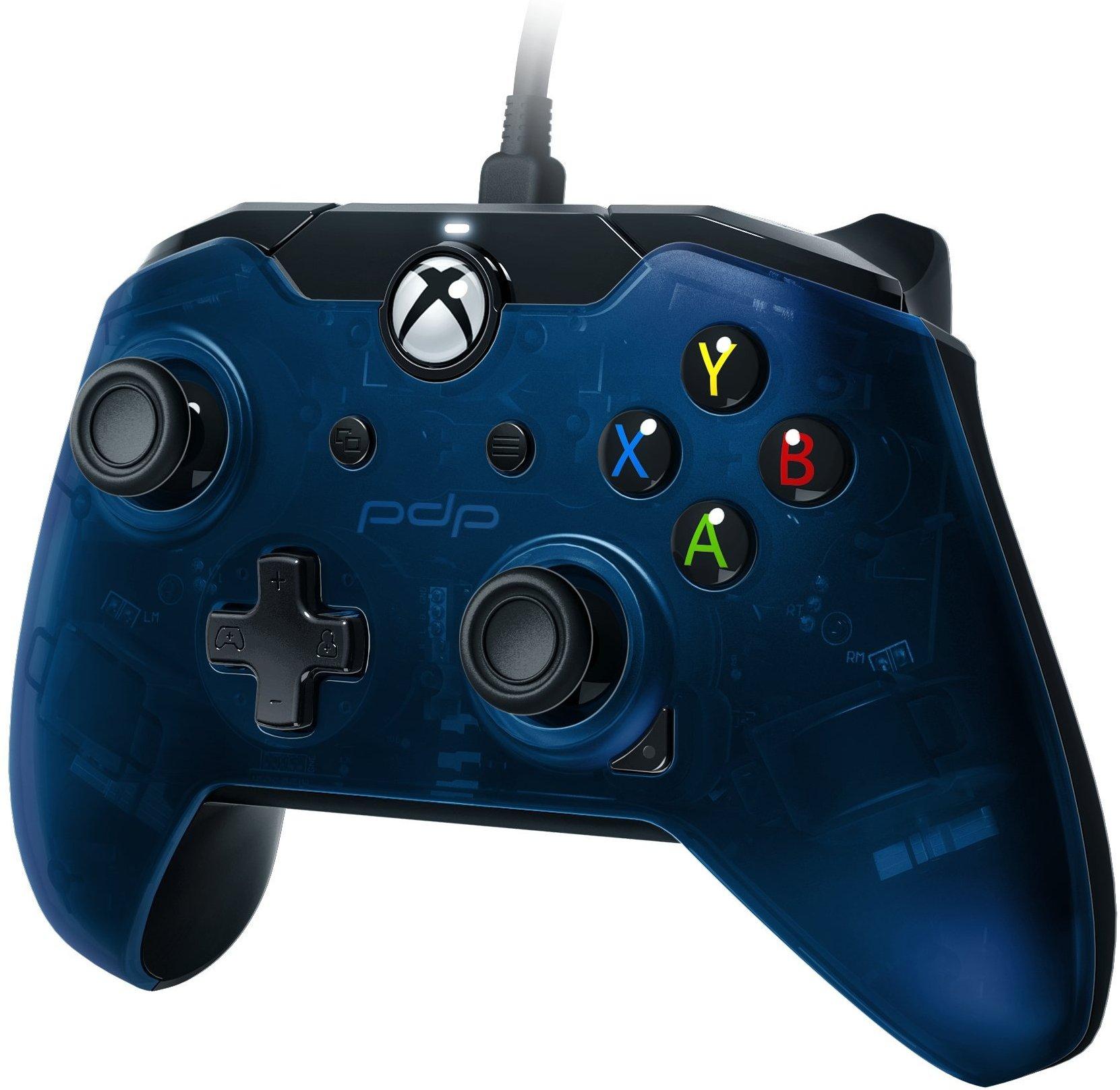 Pdp Mando Con Cable Azul Xbox One Pc Discoazul Com