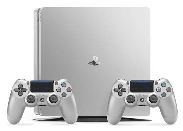 Consola Playstation 4 Slim 500 Gb 2 Mandos Dualshock 4 V2 Silver