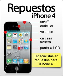 Repuestos iPhone 4