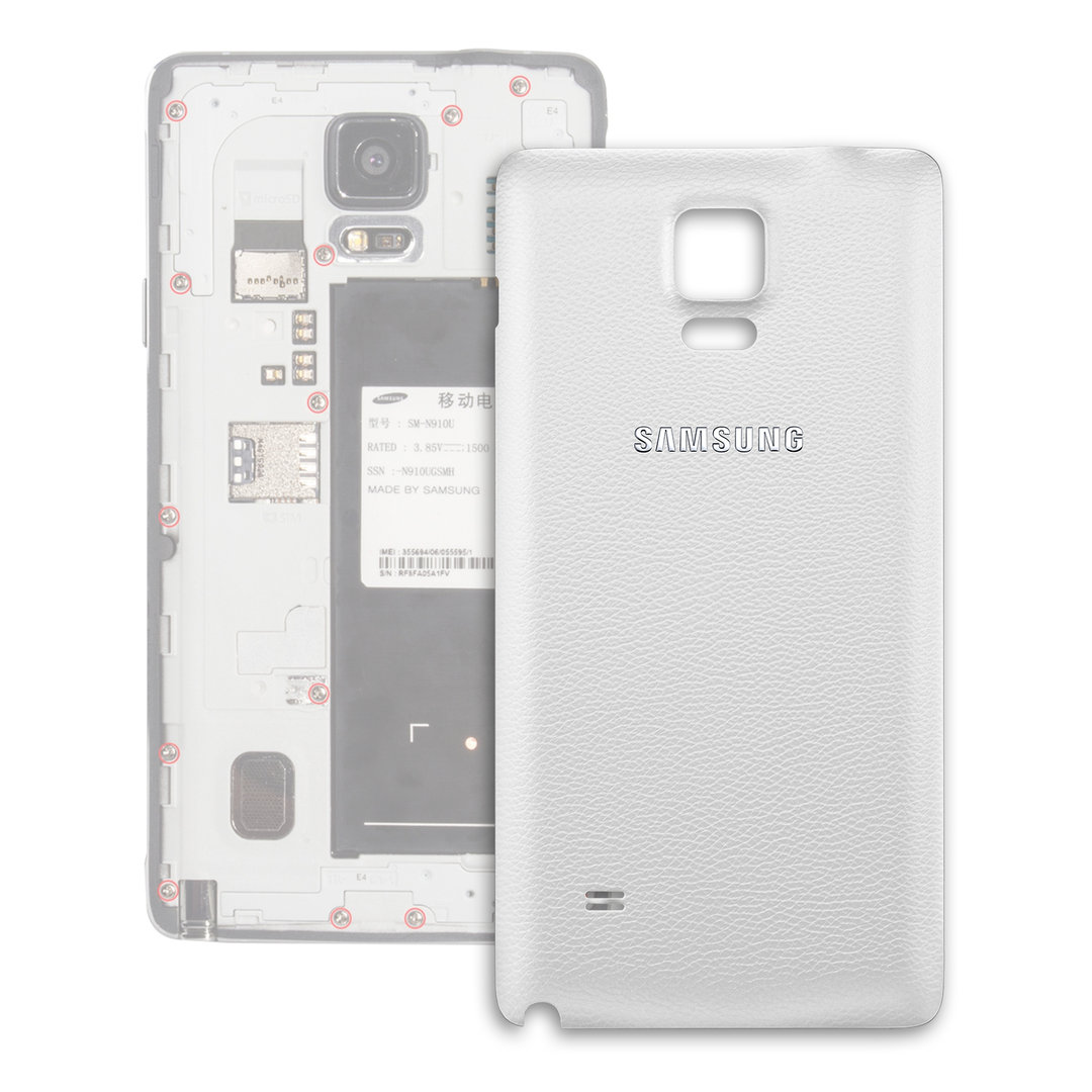battery cover for samsung galaxy note 4 white. Black Bedroom Furniture Sets. Home Design Ideas