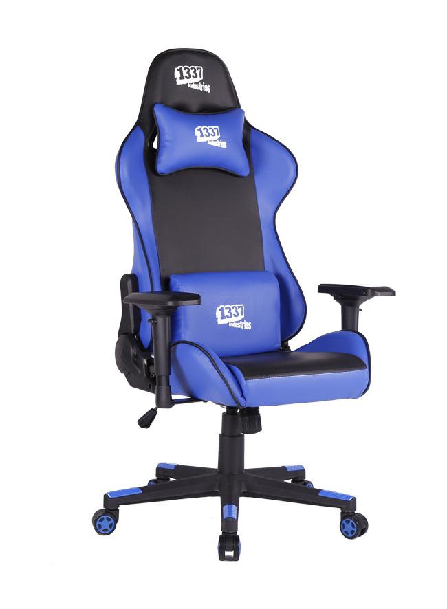 Silla gaming 1337 industries gc780bl azul negra for Silla 1337 industries