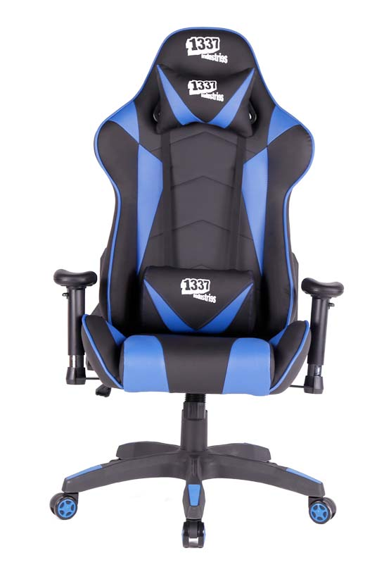 silla gaming 1337 industries gc790 bl negra azul