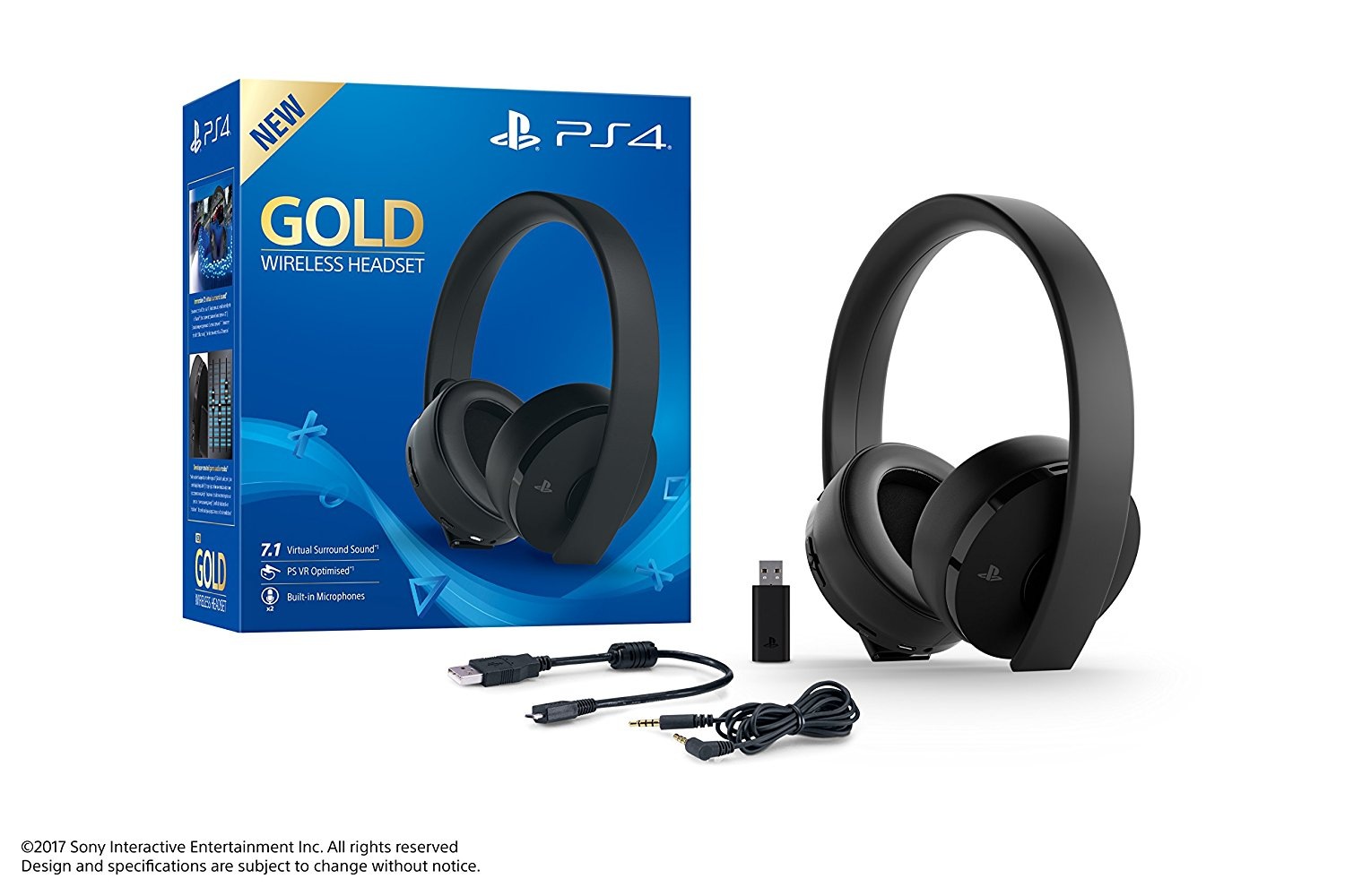 Sony Gaming Headset Gold Wireless Ps4 Discoazul Com