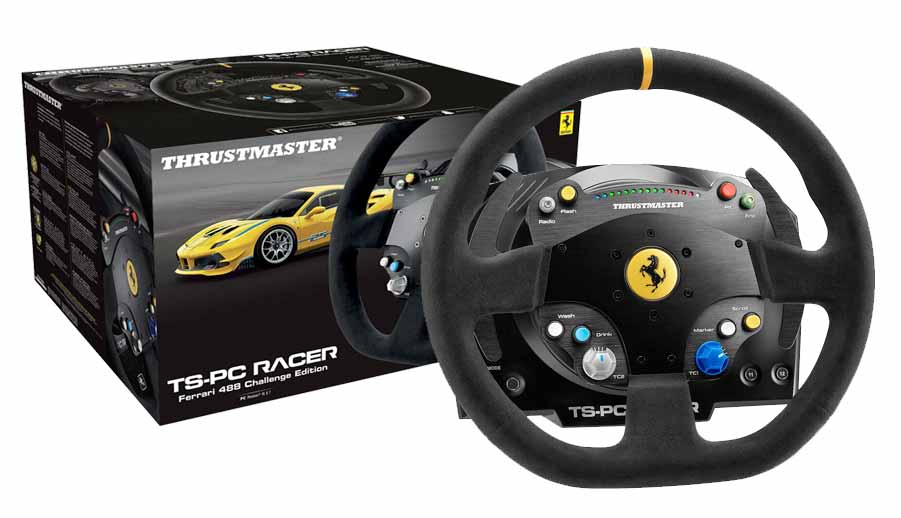 volante thrustmaster ts pc racer ferrari 488 challenge edition. Black Bedroom Furniture Sets. Home Design Ideas